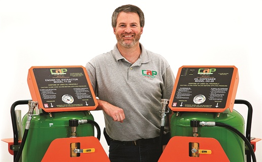 According to Joseph Shupe, president of CAP Oil Change Systems, the company has designed oil dispensers to reduce the time it takes to change engine oil and also help keep oils clean and safe.