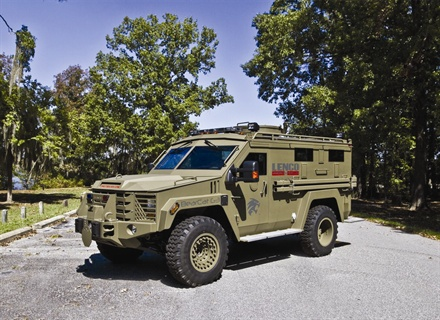 The BearCat G3 provides 0.50 caliber armor protection with high ground clearance for aggressive off-road performance and maneuverability. It is used by SWAT and Special Ops teams at high security facilities for perimeter patrol and security.