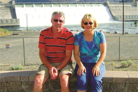Larry and Laura Campbell visited the Coulee Dam in Washington.