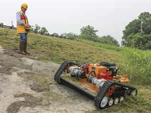 A Remote-Controlled Slope Mower