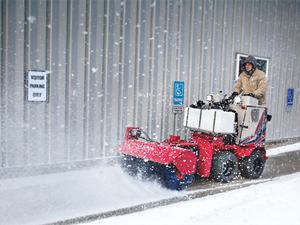 <p>The Ventrac SSV is designed with an arsenal of snow removal <br />attachments and de-icing options. <em>Photo courtesy of Ventrac </em></p>