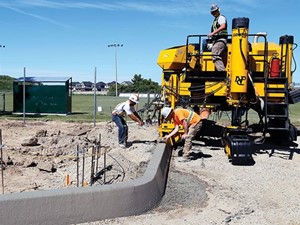 <p>Gomaco's Commander IIIx slipform paver boasts extreme turning capabilities, making the machine suitable fora wide range of curb and gutter projects. <em>Photo courtesy of Gomaco.</em></p>