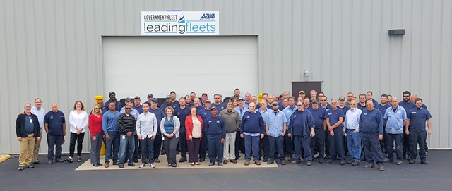 The City of Columbus fleet division staff of 121 employees will celebrate the No. 1 fleet award in September. Photo courtesy of City of Columbus