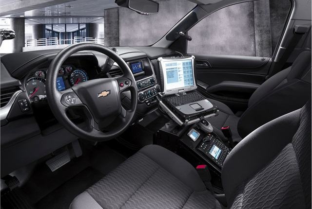 The 2015 Chevrolet Tahoe PPV comes standard with rearview camera, rear park assist, Bluetooth, OnStar, and Wi-Fi. Photo courtesy of GM