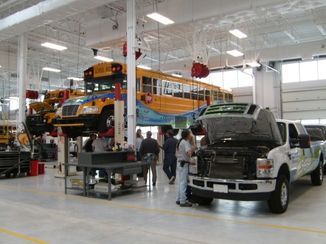 Adams 12 Five Star Schools' fleet transports 11,000 students and helps maintain 52 schools and office buildings. (Photo courtesy of Adams 12 Five Star Schools)