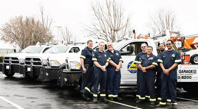 The Bay Area Freeway Service Patrol oversees 72 trucks with operators roaming freeways looking for stranded motorists and debris. Photo courtesy of Bay Area Freeway Service Patrol