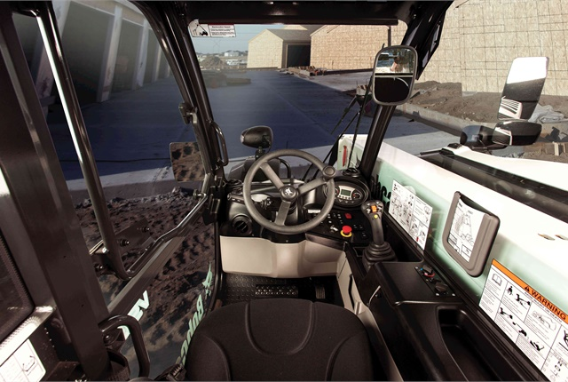 The Bobcat display panel in the V519 cab resembles panels installed in Bobcat compact loaders and compact excavators. Photo courtesy of Bobcat Company