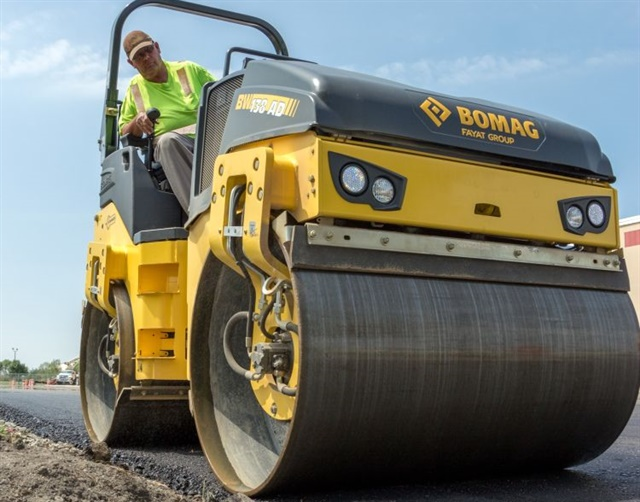 Image of BOMAG's BW 138AD-5 tandem vibratory roller courtesy of BOMAG