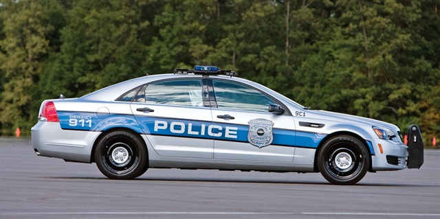 The Chevrolet Caprice PPV V-8 delivers a top speed of 155 mph. Photo courtesy of GM