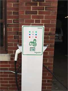 The State is currently in the process of installing 33 electric vehicle charging stations with the same grant funding used to purchase the cars. Photo Courtesy of State of Illinois