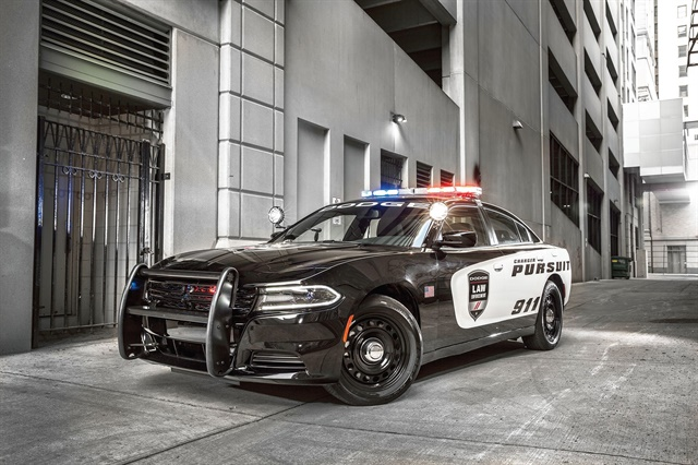 The Dodge Charger Pursuit is used by agencies around the country, including California Highway Patrol. Photo courtesy of FCA