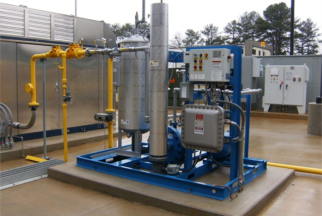 One of the components of a natural gas fueling station is a dryer (pictured). Replacement of these components should be taken into consideration when calculating the total cost of CNG. Photo courtesy of ET Environmental.