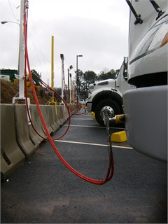 A time-fill station is less expensive to operate than a fast-fill station, but it usually can only be used to fuel vehicles outside regular hours of operation. Photo courtesy of ET Environmental.