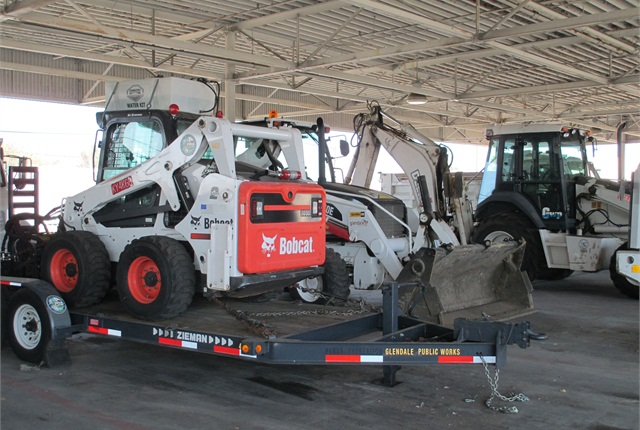 At the City of Glendale, Calif., Fleet Manager Karl Vogeley said equipment rentals have helped the City fleet eliminate underutilized equipment. Pictured are some of the City's off-road assets. Photo courtesy of City of Glendale.