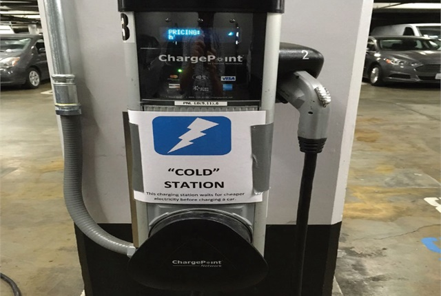 Alameda County (Calif.) is running a pilot that allows its fleet DC charger to override its Level 2 chargers when in use. Photo courtesy of Alameda County