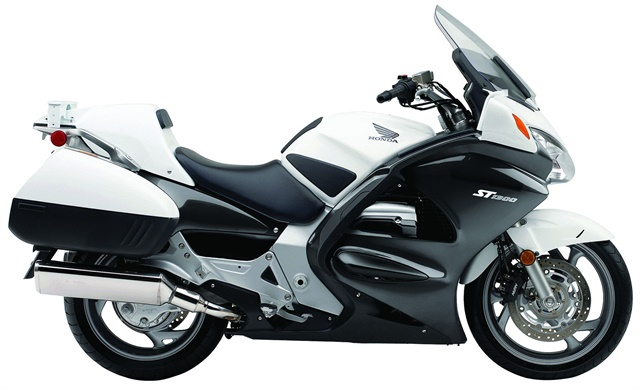Honda's ST1300P features a low center of gravity for easier low-speed handling. Photo courtesy of Honda.
