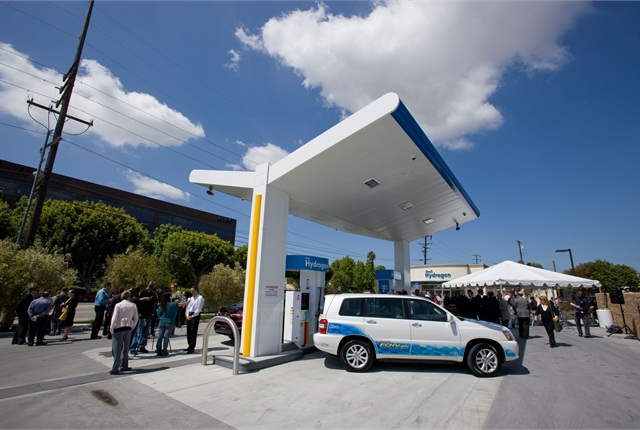 UCLA staff piloting the Toyota fuel-cell vehicles mainly use this hydrogen fueling station in Torrance, Calif. It opened in May 2011.