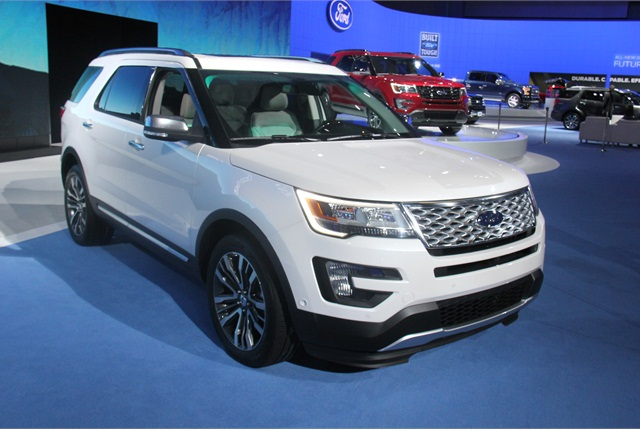 Ford's Explorer adds a 2.3L EcoBoost engine. Photo by Paul Clinton.