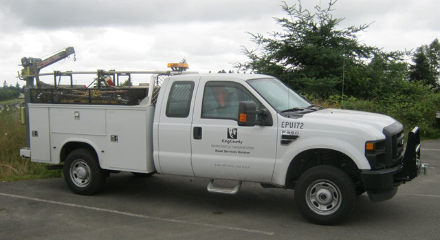 KCDOT has 20 fleet vehicles that run on propane autogas. These include Ford F-250 and F-350 work trucks and E-Series vans.