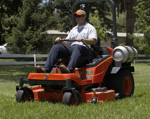 The Kubota ZP330 liquid-cooled propane-powered engine delivers eco-friendly performance with reduced CO2 emissions compared to gasoline and diesel. Photo courtesy of Kubota