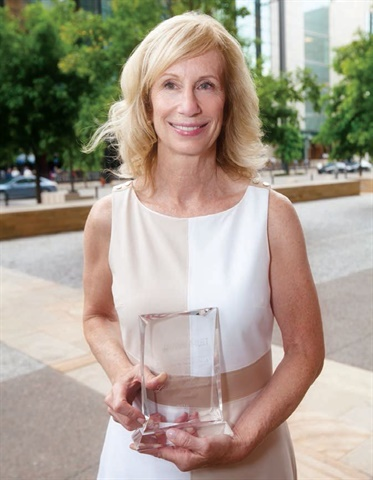 """We never stop learning when we surround ourselves with great people,"" Barb Bonansinga said during her acceptance speech for the Legendary Lifetime Achievement Award on June 21. Photo by Nashville Events Coverage."