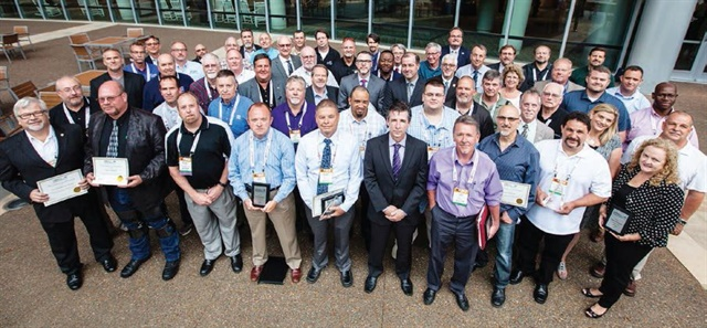 Many of  the Leading Fleets awards recipients are pictured here after The Honors Celebration at the Government Fleet Expo & Conference on June 21.