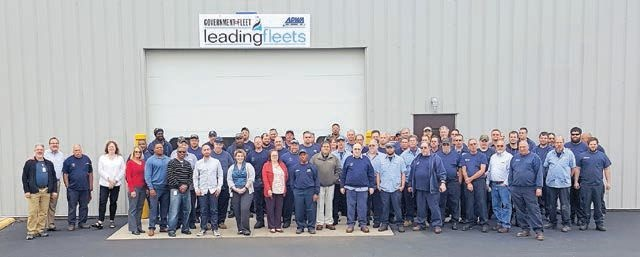 Each City of Columbus fleet employee contributes to the award by being efficient and working on new ­initiatives. Photo Courtesy of Columbus