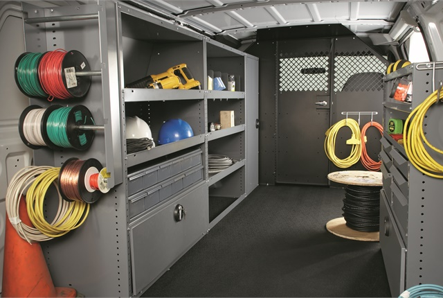 Masterack products include customized shelving, drawers, parts bins, partitions, wire spool racks, literature racks, lockable doors and cabinets, and more. The company previously operated under the name of Leggett & Platt Commercial Vehicle Products, but recently rebranded under the product line name -- Masterack. Photo courtesy of Masterack