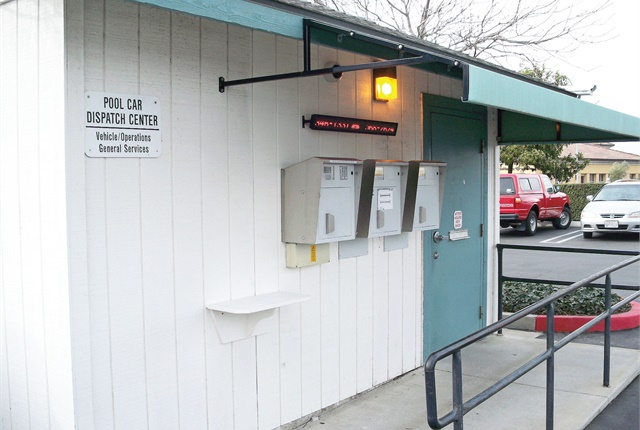Santa Barbara County's system uses an automated key box, in which customers receive a code to access the lockbox for their keys. Photo courtesy of Santa Barbara County