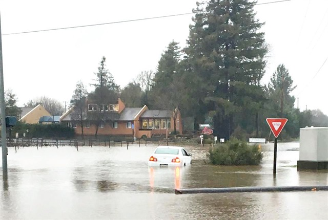 In late January and early February, more than 20 inches of rainfall contributed to flooding in the City of Napa, Calif. Photo courtesy of City of Napa