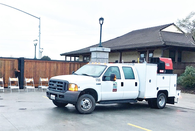 The fleet's mobile maintenance truck is especially helpful during storms, as it can be deployed straight to a piece of equipment for roadside repair. Photo courtesy of City of Napa