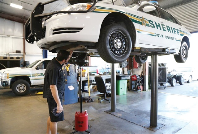 Polk County Sheriff's Office in Florida has extended its oil change intervals to 30,000 miles and filter change intervals to 10,000 miles. Photo courtesy of Polk County Sheriff's Office