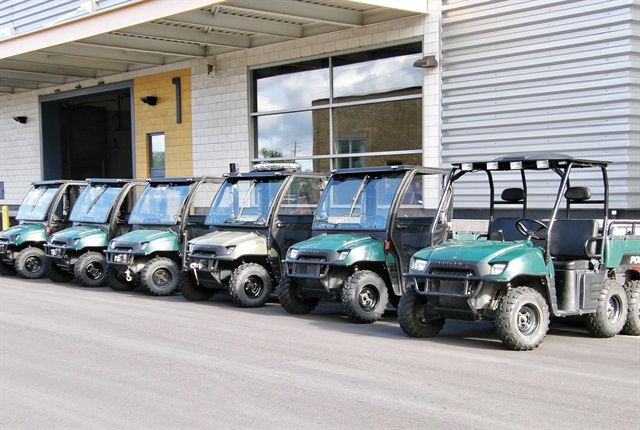 Minneapolis' green fleet includes these Polaris low-speed electric vehicles used by the Police Department.