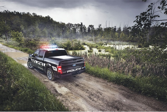 The F-150 Police Responder features best-in-class payload capacity and towing capacity. Photo courtesy of Ford