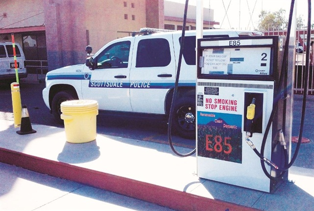 A new, strategically-placed E-85 fueling pump more htan doubled E-85 use. Photo courtesy of City of Scotsdale