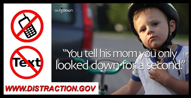 Sonoma County (Calif.) uses this ad banner to promote safe driving. These are hung up around the county campus, at fueling stations, and maintenance facilities.