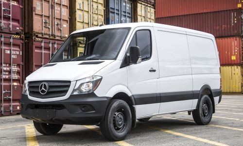 The Mercedes-Benz Sprinter offers two engine choices, three body lengths, three body heights, and the option of a gasoline or diesel engine. (PHOTO: MBUSA)