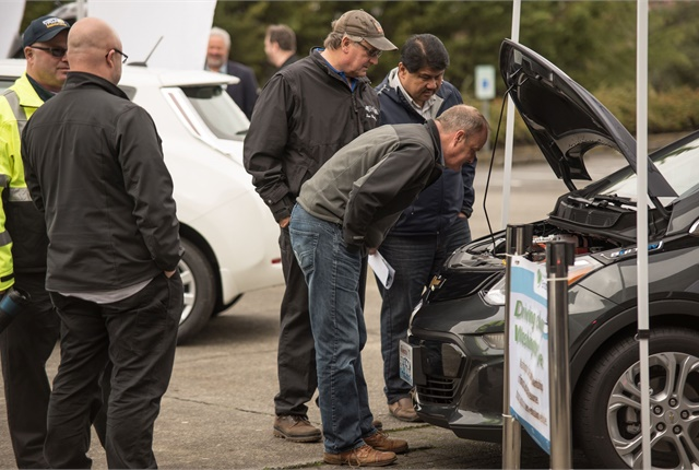 The State of Washington's Department of Enterprise Services analyzed the costs, challenges, and solutions associated with purchasing battery-electric vehicles. Photo courtesy of Washington DES