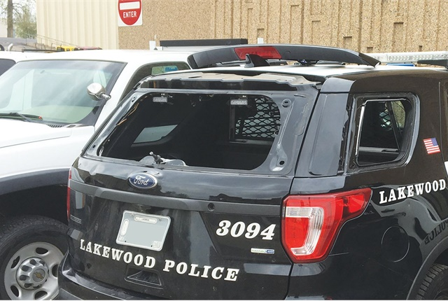 Nearly half of Lakewood, Colo.'s municipal fleet was damaged by a hailstorm that struck the Denverarea in May. Photo courtesy of City of Lakewood