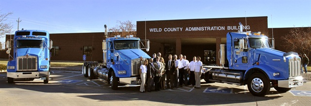 Pictured are Weld County, Colo., employees with the County's natural gas vehicles. Photo courtesy of Weld County.