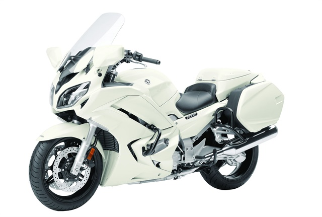 The FJR1300P, introduced in February, is Yamaha's entry into the police market. Photo courtesy of Yamaha.