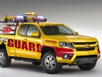 The 2015 Chevrolet Colorado will be on sale in 2014. The Colorado is pictured upfitted as a beach patrol vehicle, one of its possible uses. Photos courtesy of GM