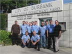 Fleet employees at the City of Burbank are: (front row, l-r) Raul Martinez, Art Derzakharian; (second row, l-r) David Rodriguez, John Leil, Rex Richardson, Chris Whitney, Ron Martin, Johnny Stein, Craig Van Item; (third row, l-r) Rich Benson, Richard Powell, and Mike Muravez.
