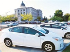 Utah replaces about 500 fleet vehicles annually. Pictured are some of its sedans.Photo courtesy of State of Utah.