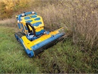 The remote-controlled Flailbot from Bomford Turner is equally adept at mowing on steep and flat terrain. Photo courtesy of Bomford Turner