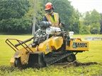 Bandit Industries' Model ZT1844 track-mounted stump grinder is available with two Kohler engine options: 26 hp and 38 hp. Photo courtesy of Bandit