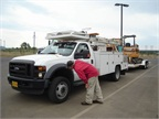All fleet drivers at the Eugene Water and Electric Board in Oregon now perform a pre-trip vehicle inspection and turn in a report. These frequent inspections have improved safety and vehicle maintenance.<br />Photo courtesy of Eugene Water and Electric Board, Ore.