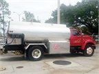 In Lakeland, Fla., east of Tampa, an agreement with a local fuel vendor ensures the city's equipment, including this split gasoline/diesel tanker, get first priority during an emergency.Photo courtesy of City of Lakeland