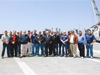 The PFSA group at a meeting at the USS Hornet.