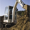 The Terex TC 20 Compact Crawler Excavator has max dig depth of 8 feet 2 inches and max reach of 14 feet 4 inches.